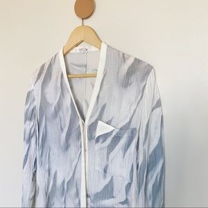 Helmut Lang Concealed Placket Silk Blouse